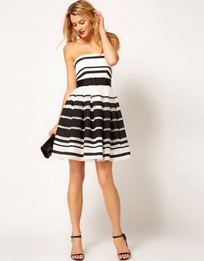 Image 4 ofCoast Stripe Jackie Bandeau Dress