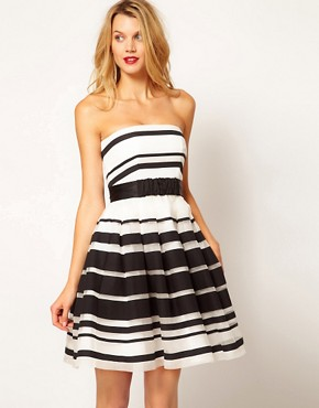 Image 1 ofCoast Stripe Jackie Bandeau Dress
