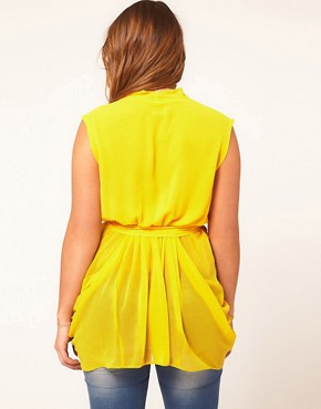 Image 2 ofASOS CURVE Exclusive Belted Wrap Top