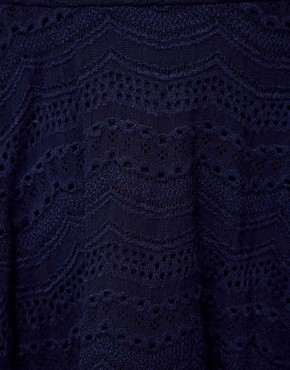 Image 3 ofRiver Island Navy Lace Skater Skirt