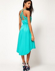 ASOS Summer Midi Dress With Sunray Back