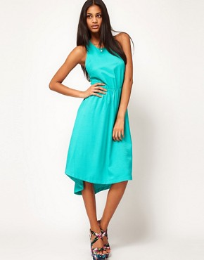 Image 2 ofASOS Summer Midi Dress With Sunray Back