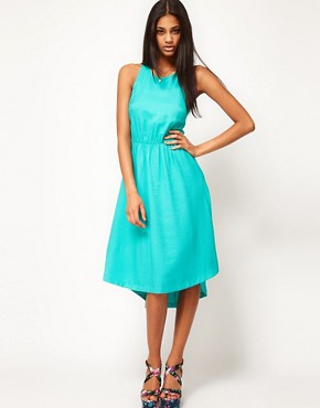 Image 4 ofASOS Summer Midi Dress With Sunray Back