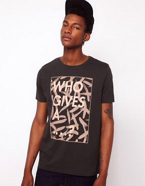 Image 1 ofASOS T-Shirt With &quot;Who Gives...&quot; Print