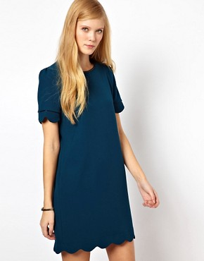 Image 1 of Whistles Scallop Hem Dress