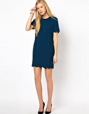 Image 4 of Whistles Scallop Hem Dress