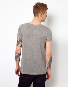 Image 2 ofASOS T-Shirt With Girl Print And Burnout Wash