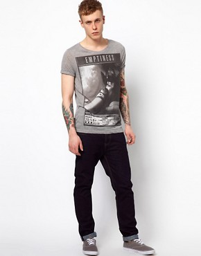 Image 4 ofASOS T-Shirt With Girl Print And Burnout Wash