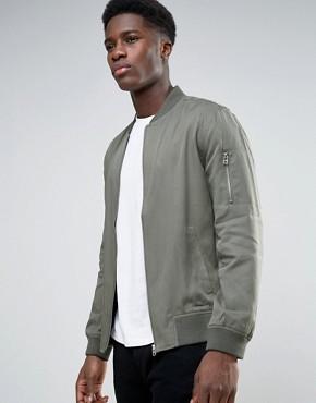 New Look Bomber Jacket in Grey