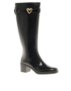 Image 1 ofLove Moschino Jelly Heeled Wellington Boots