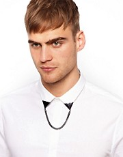 River Island Triangle Chain Collar Tips