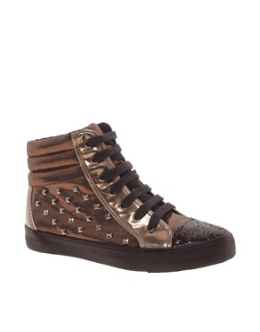 Image 1 ofASOS DREAM Studded High Top Trainers