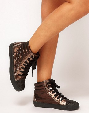 Image 3 ofASOS DREAM Studded High Top Trainers