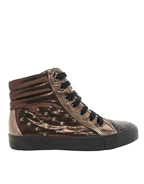 Image 4 ofASOS DREAM Studded High Top Trainers