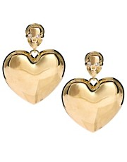 River Island Skull And Heart Door Knocker Earrings