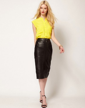 Image 4 ofEquipment Skylar Sleeveless Shirt in Silk with Raw Edging