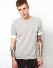 ASOS Sweatshirt With Short Sleeves
