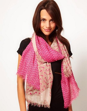 Image 1 ofWarehouse Mixed Bird Print Scarf
