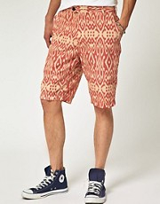 Benson Patterned Chino Shorts