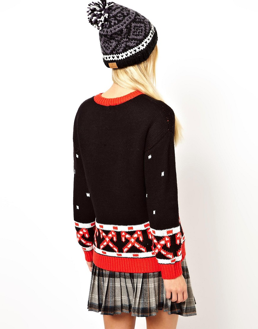 Image 2 of ASOS Christmas Jumper with Snowmen