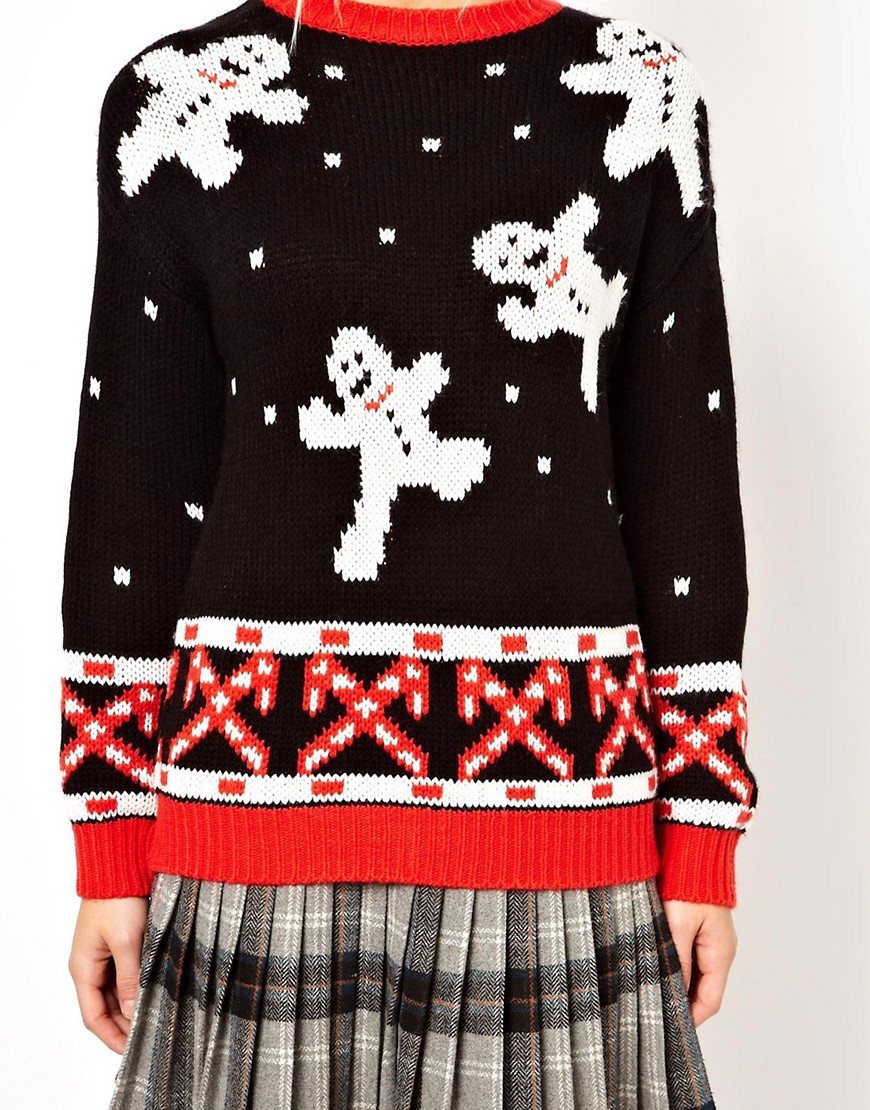 Image 3 of ASOS Christmas Jumper with Snowmen