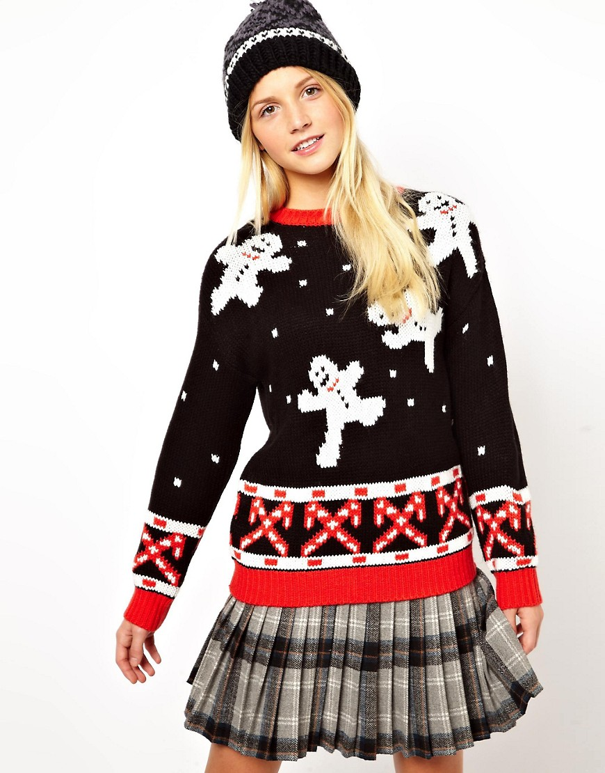 Image 1 of ASOS Christmas Jumper with Snowmen