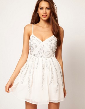 Image 1 ofASOS Skater Dress With Scatter Sequins