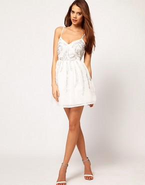 Image 4 ofASOS Skater Dress With Scatter Sequins
