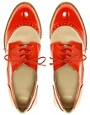 Image 3 ofASOS MAURICE Leather and Patent Lace Up Brogue