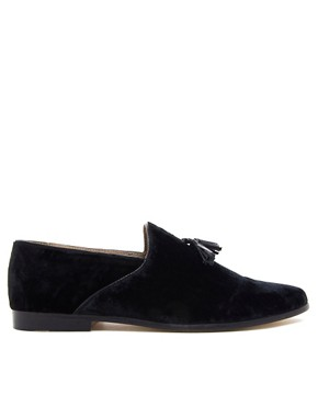 Image 2 ofASOS Velvet Tassel Loafers With Leather Sole