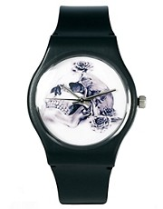 ASOS Watch with Skull Print Face