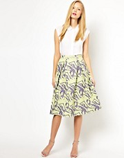 ASOS Midi Skirt in Abstract Jacquard