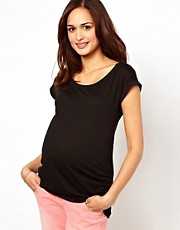 New Look Maternity Turn Back Sleeve Tee