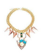 ASOS Jewelled Punk Spike Necklace