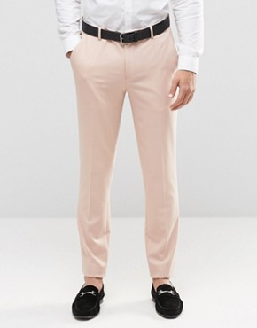 ASOS Skinny Trousers In Pink