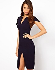 Hybrid Pencil Dress With Cold Shoulder
