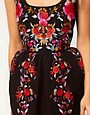 Image 3 ofASOS Wiggle Dress With Exaggerated Hips And Embroidery