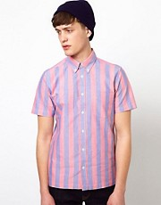 Ben Sherman Short Sleeve Oxford Shirt with Stripes