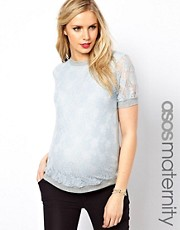 ASOS Maternity T-Shirt In Lace