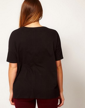 Image 2 ofASOS CURVE Exclusive Howling Wolf Drape Top