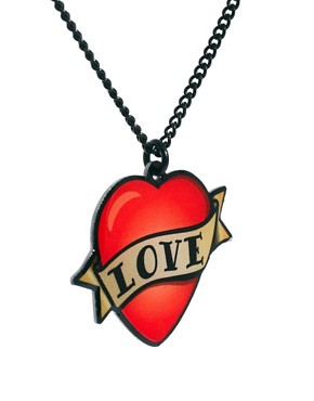 Image 4 ofTatty Devine Enamel Love Necklace