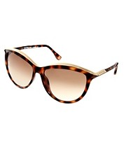 Michael Kors &ndash; Katzenaugen-Sonnenbrille mit Schildpattrahmen