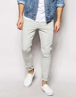 ASOS Super Skinny Jeans In Ice