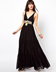 Manoush Maxi Dress with Embellished Waist