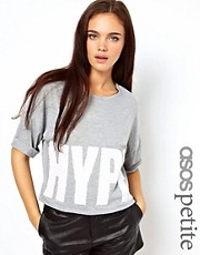 ASOS PETITE Exclusive T-Shirt with Glitter Hype