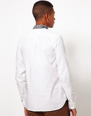 Image 2 ofASOS Oxford Shirt With Print Collar
