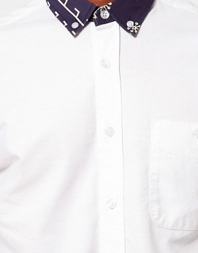 Image 3 ofASOS Oxford Shirt With Print Collar