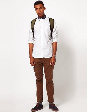 Image 4 ofASOS Oxford Shirt With Print Collar