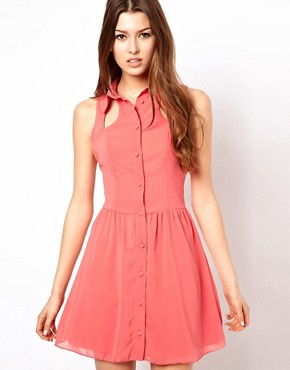 Image 1 ofRare Cut Out Shirt Dress