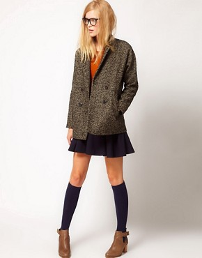 Image 4 ofNW3 Birch Tweed Double Breasted Coat